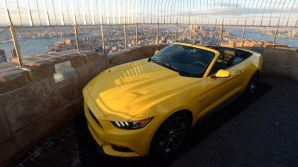This morning Ford took photos of their Mustang atop the Empire State building.
