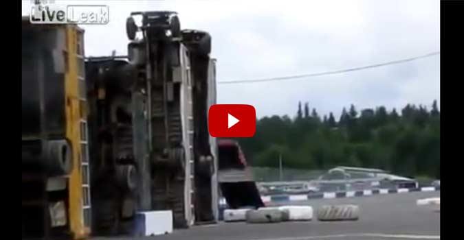 Car Tries To Jump Row Of Buses Extreme Fail 4wheel