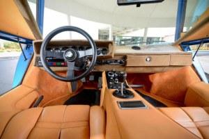 The Lamborghini's interior.