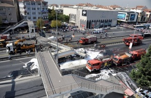 Fuel truck accident in Istanbul