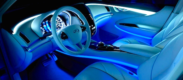 the interior of your car may soon be able to change colors 4wheel online blog automotive news. Black Bedroom Furniture Sets. Home Design Ideas