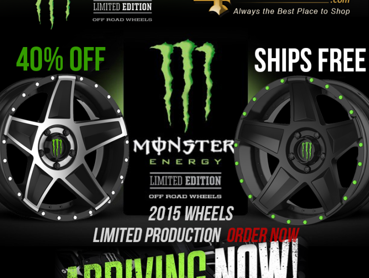 Monster Energy Drops Sick New Wheels | 4Wheel Online Blog ...