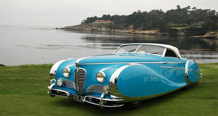 Throwback Classic 1949 Delahaye 175 S Saoutchik Roadster