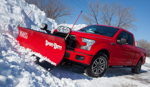 Ford F 150 Offers Rare Light Duty Truck Snow Plow Option 4wheel