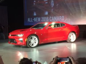 2016 Camaro reveal at Belle Isle