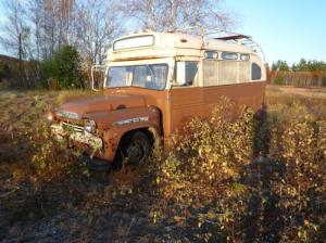 For his restration, Winkelman initially started with this abandoned '59 Viking