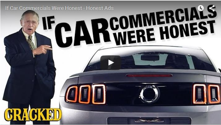 if car commercials were honest