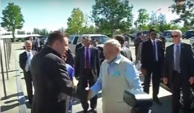 Elon Musk and Indian Prime Minister Modi