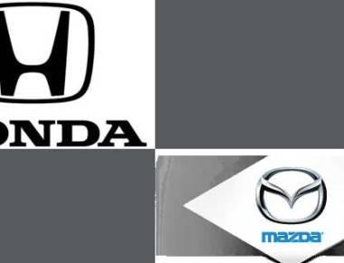 Honda and Mazda Logos