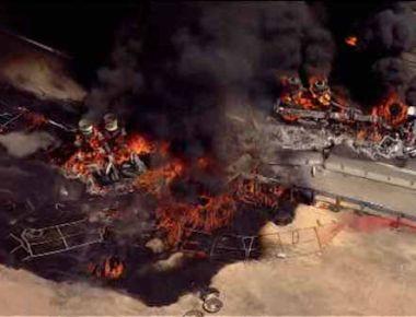 Tanker Crash on NJ Turnpike
