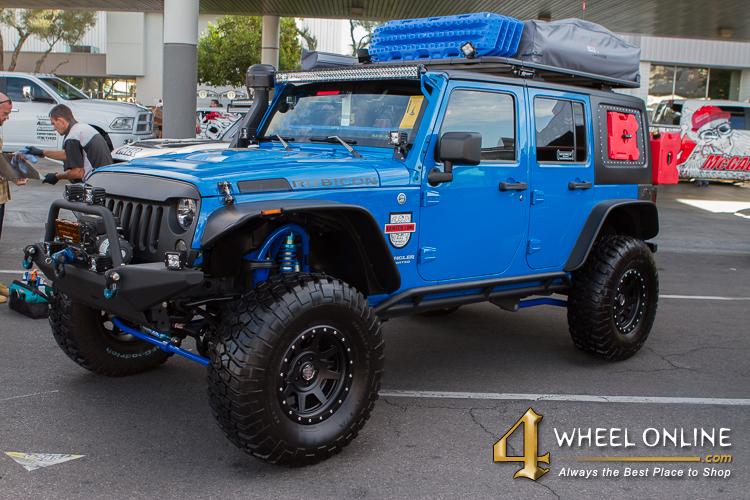 SEMA 2015 Blue Jeep