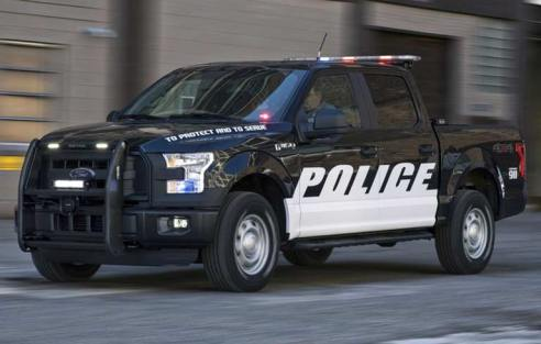 New f 150 police pickup truck 4wheel online blog automotive news earlier this month ford launched its new factory installed stealth interior lights for police interceptors these light bars are built into the slim area aloadofball Gallery