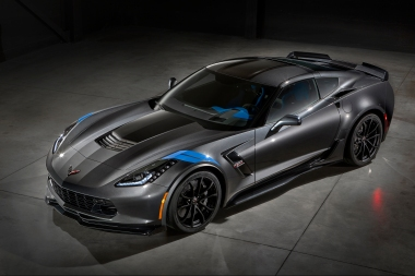 The new 2017 Chevrolet Corvette Grand Sport combines a lightweight architecture, a track-honed aerodynamics package, Michelin tires and a naturally aspirated engine to deliver exceptional performance. The Grand Sport Collector Edition features an exclusive Watkins Glen Gray Metallic exterior with Tension Blue hash-mark graphics, satin black full-length stripes and black wheels. the new Grand Sport combines a lightweight architecture, a track-honed aerodynamics package, Michelin tires and a naturally aspirated engine.
