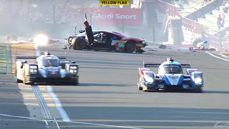 Huge Ford Gt Crash At  Hours Of Spa