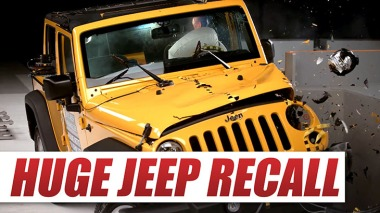 huge jeep recall - over 500,000 jeeps recalled for potential airbag issue caused by dirt and dust in clock spring blog image