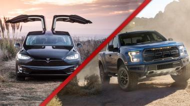 trucks vs tesla model 3 f-150 blog image