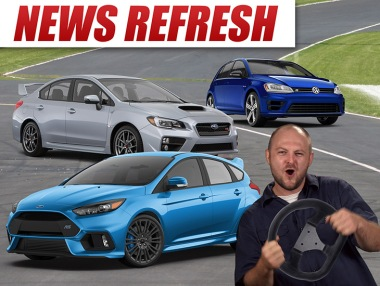 Ford focus rs vs subaru golf r vs subaru wrx sti comparison blog image