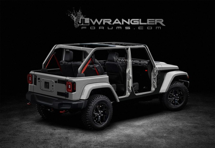A JLWranglerForum.com user's render of the new Wrangler JL